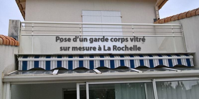 Pose d'un garde-corps vitré à La Rochelle