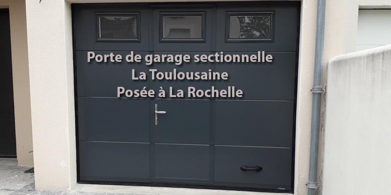 Pose d'une Porte de Garage sectionnelle – La Rochelle
