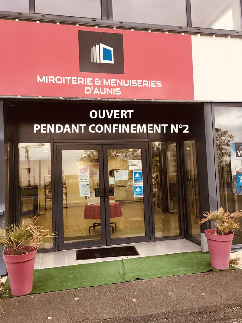 Magasin Miroiterie et Menuiseries d'Aunis La Rochelle Ouvert