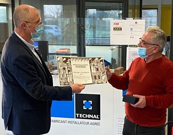 Gilles Alarcon, Remise du diplôme d'honneur de la fédération Francaise du Bâtiment à Gilles Alarcon