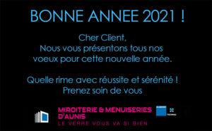 Vœux pour l'Année 2021 Miroiterie d'Aunis