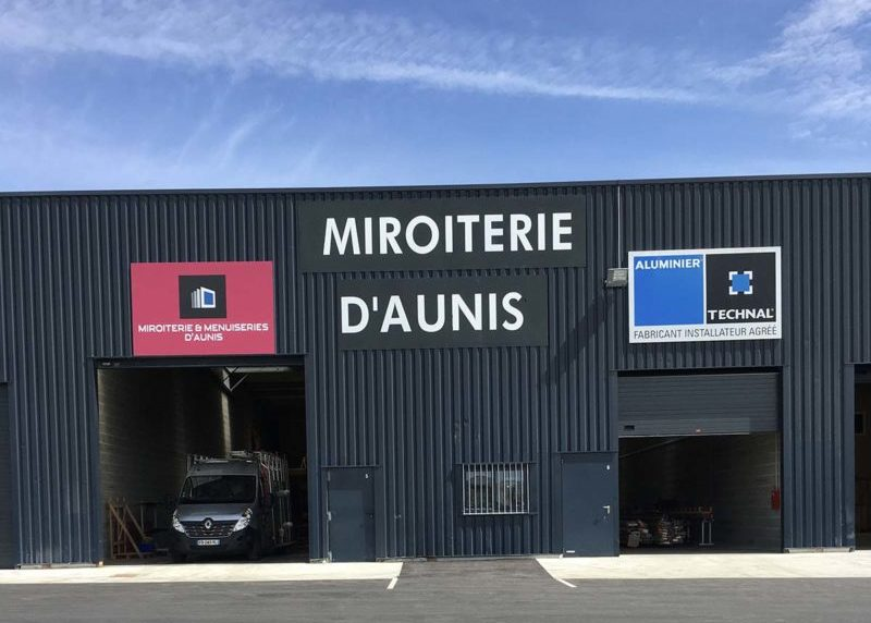 Nouveaux locaux de la Miroiterie et Menuiseries d'Aunis à La Rochelle